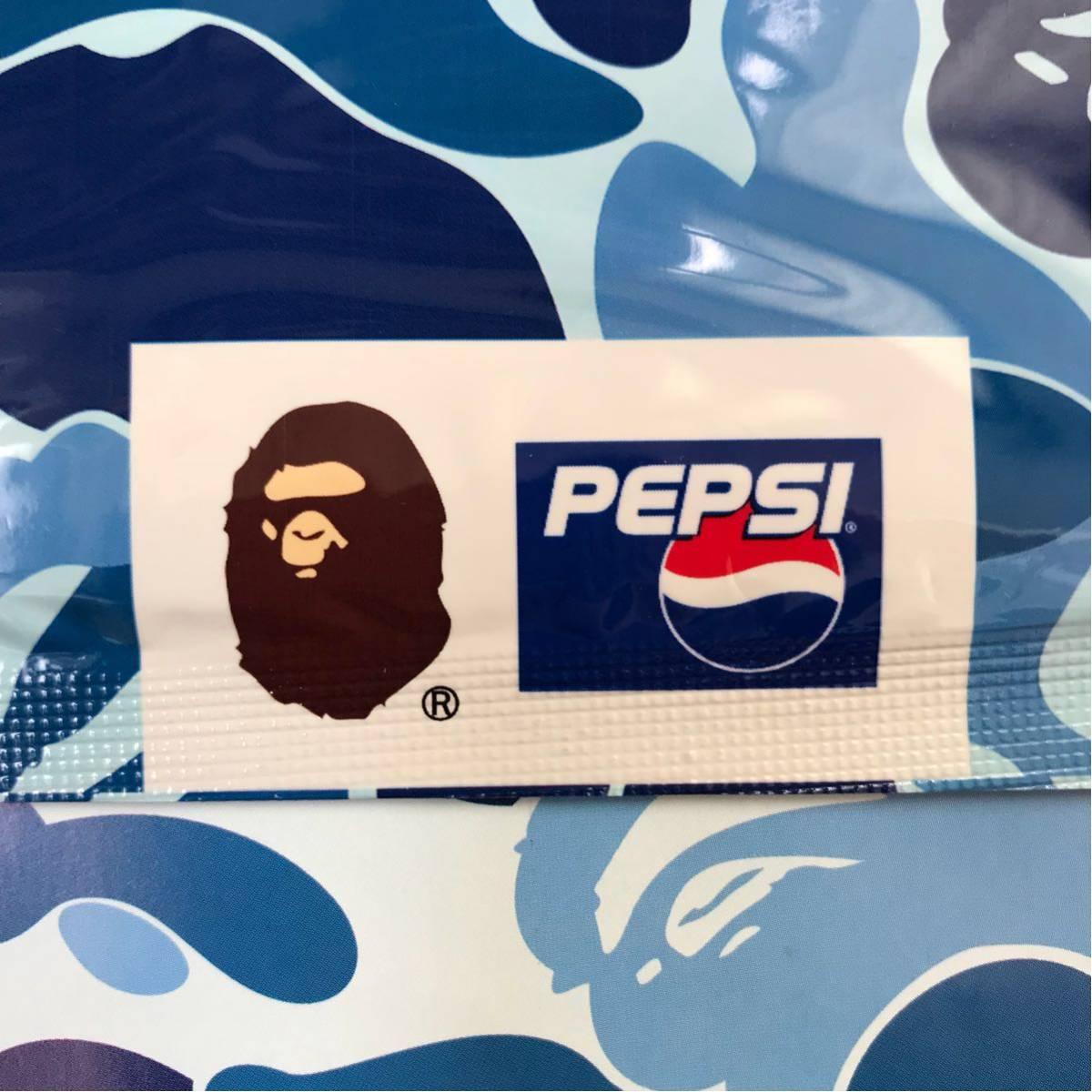 台紙付き ape×pepsi バンダナ ape bape pepsi ペプシ コーラ ABCカモ エイプ ベイプ アベイシングエイプ a bathing ape ハンカチ ブルー