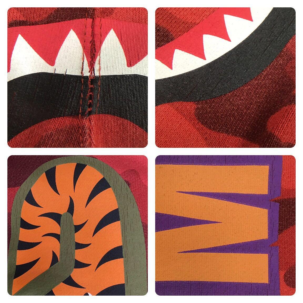 red camo シャーク ハーフパンツ Mサイズ a bathing ape BAPE shark shorts ショーツ エイプ ベイプ レッドカモ 迷彩 8089
