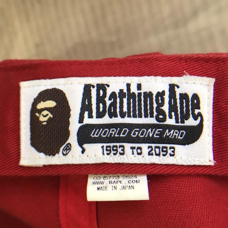 シャーク スナップバック キャップ red WGM a bathing ape bape shark cap 帽子 エイプ ベイプ アベイシングエイプ 赤 レッド