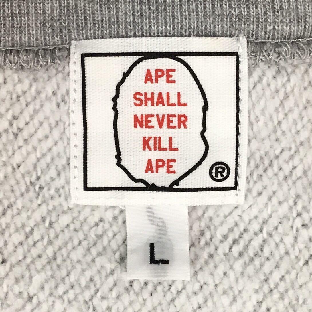 ★激レア★ kaws × BAPE Big face 長袖スウェット Lサイズ a bathing ape カウズ エイプ ベイプ アベイシングエイプ nigo 3131