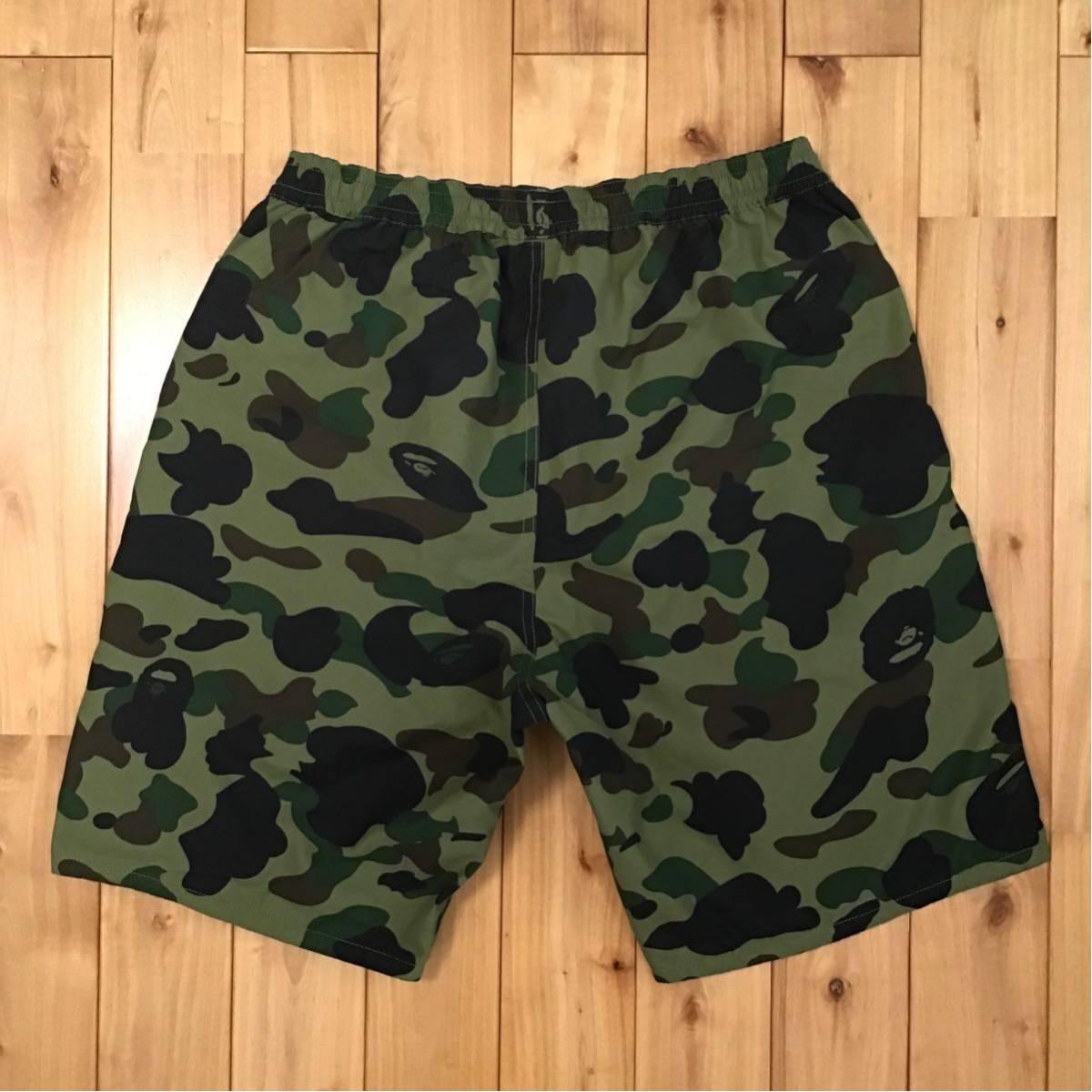 ★リバーシブル★ シャーク ハーフパンツ Lサイズ a bathing ape BAPE shark shorts ショーツ エイプ ベイプ 迷彩 navy × 1st camo green