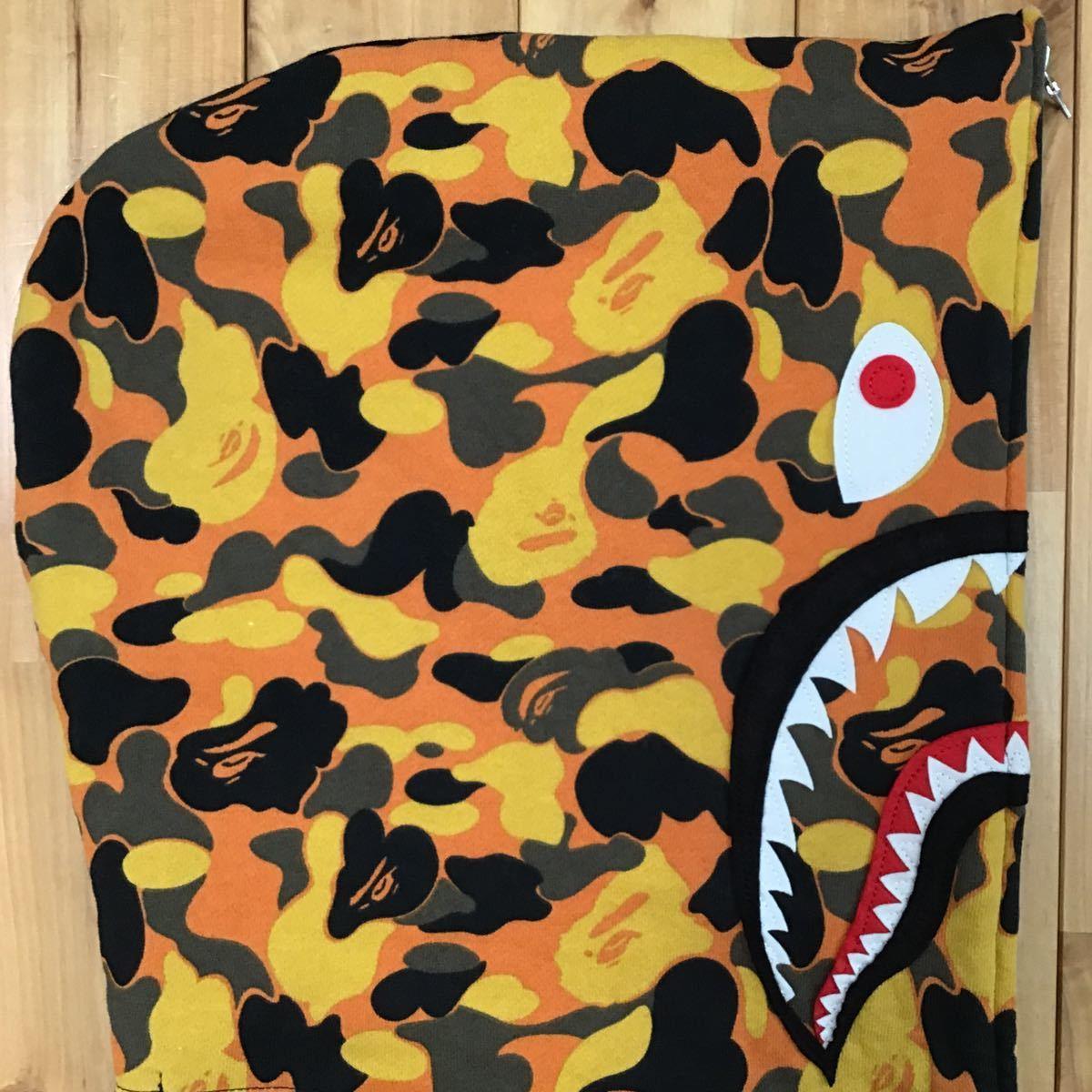 ★2XL★ XO × BAPE シャーク パーカー a bathing ape The Weeknd shark full zip hoodie エイプ ベイプ orange camo 迷彩 XXL