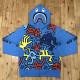 キースヘリング × BAPE シャーク パーカー Lサイズ KEITH HARING shark full zip hoodie a bathing ape エイプ ベイプ 698i