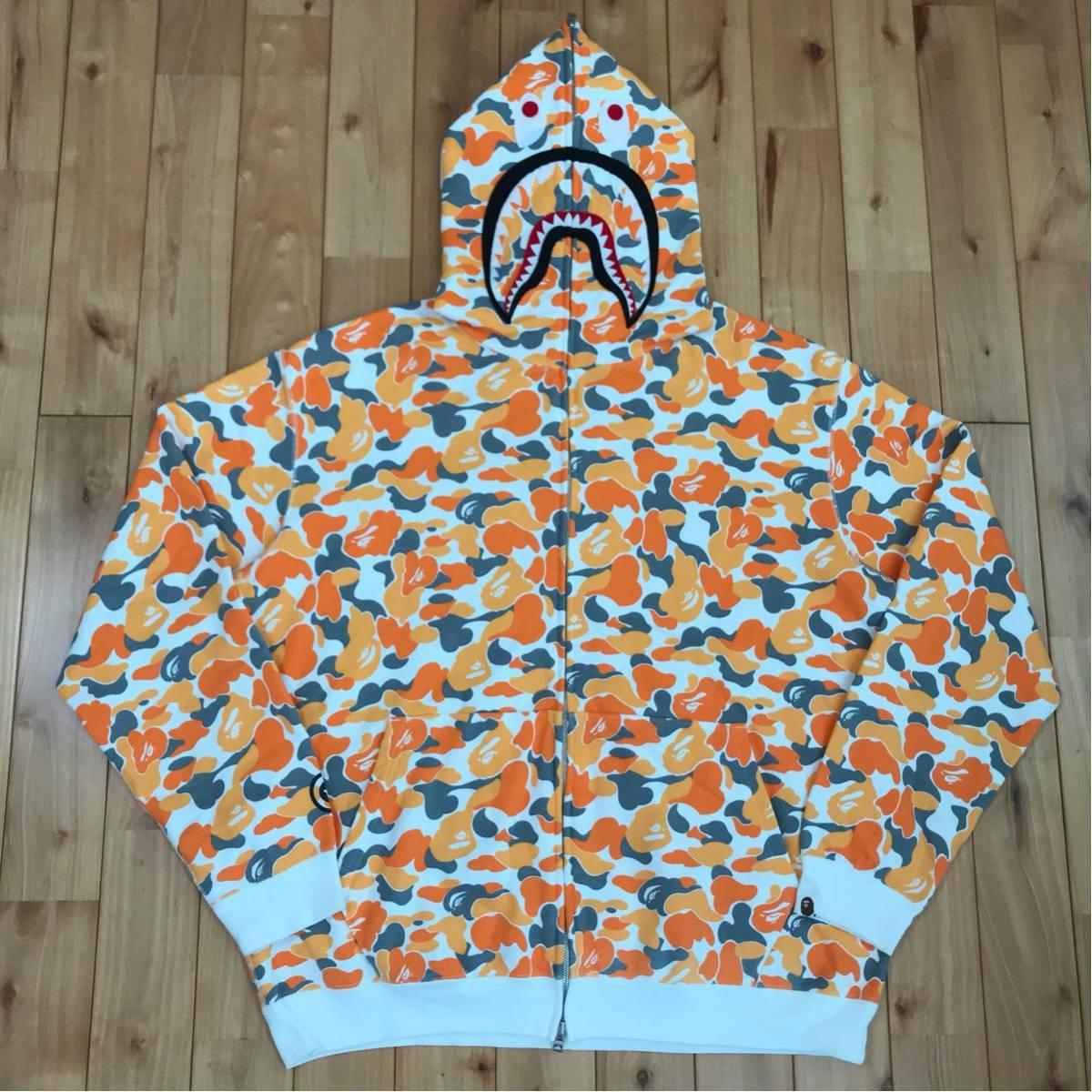 ★福岡限定★ fukuoka city camo シャーク パーカー XL ape bape shark full zip hoodie エイプ ベイプ アベイシングエイプ 都市限定 迷彩