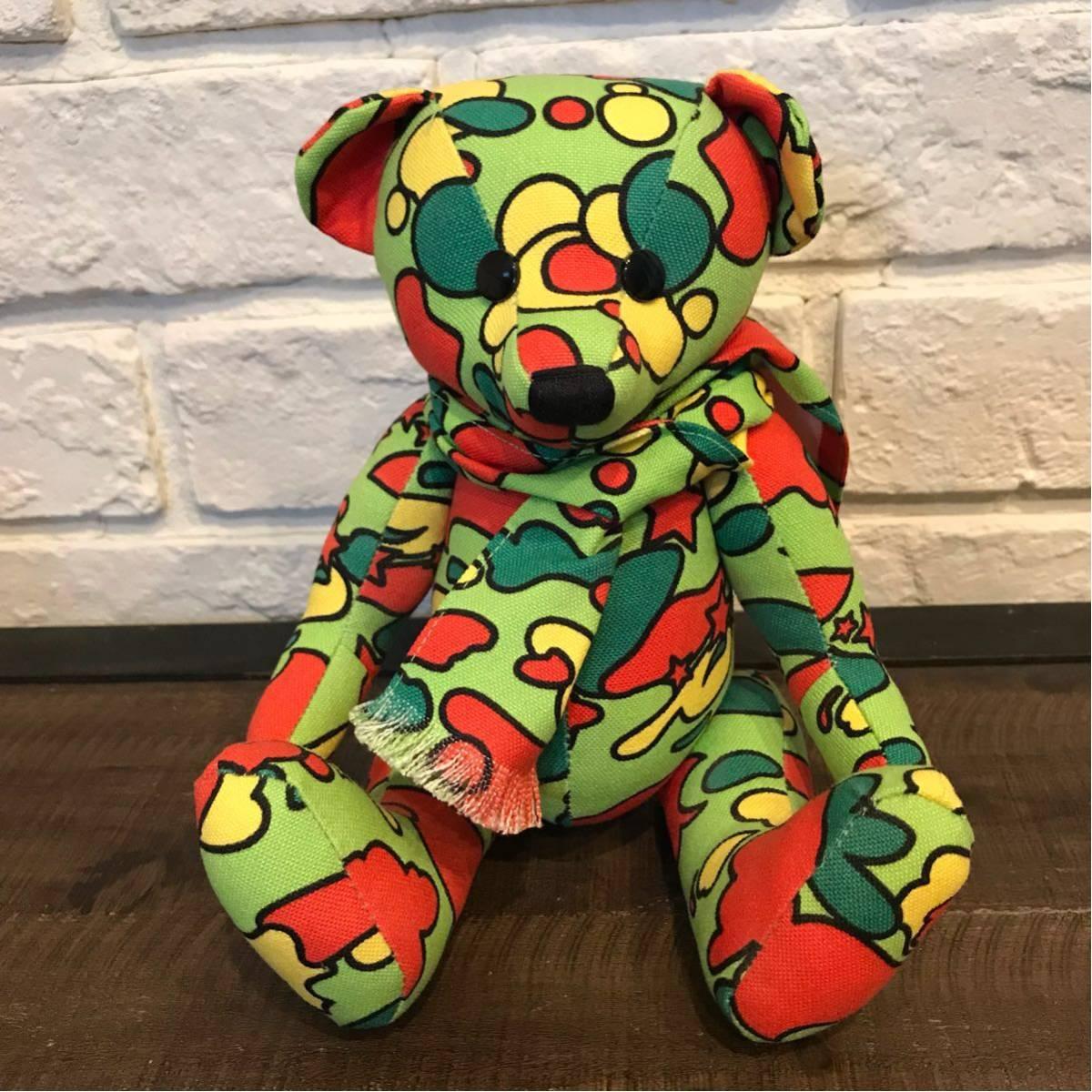 ★激レア★ psyche camo Teddy bear a bathing ape BAPE サイケカモ sta camo エイプ ベイプ nigo pharrell テディベア ぬいぐるみ