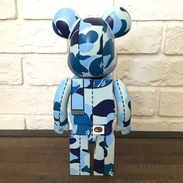 ABC camo 400% BE@RBRICK blue medicom toy a bathing ape bape ベアブリック メディコムトイ エイプ ベイプ アベイシングエイプ ABCカモ