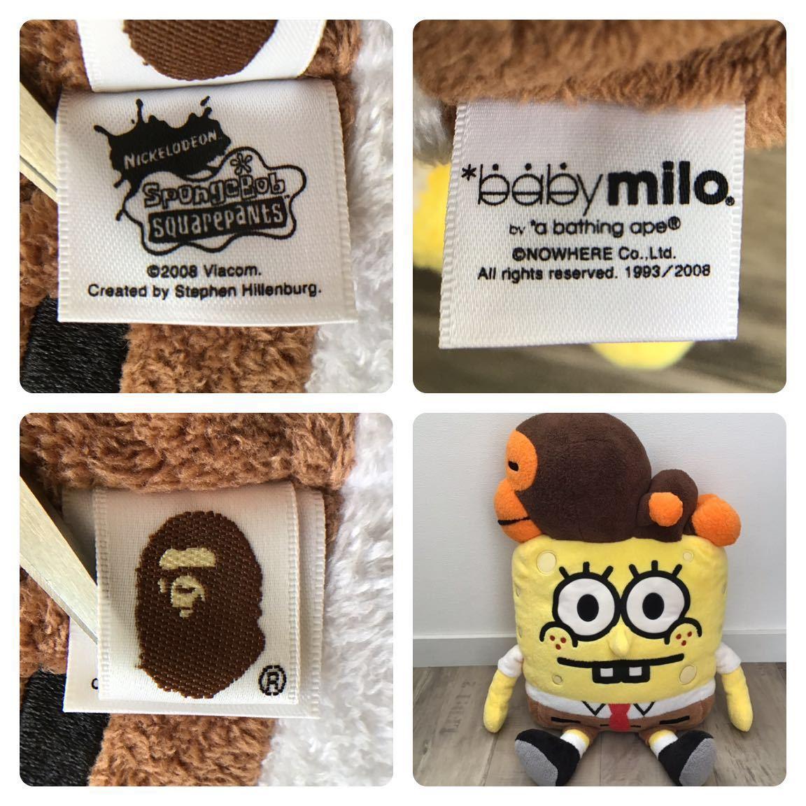 ★激レア★ スポンジボブ × マイロ ぬいぐるみ a bathing ape BAPE spongebob baby milo エイプ ベイプ アベイシングエイプ PLUSH DOLL