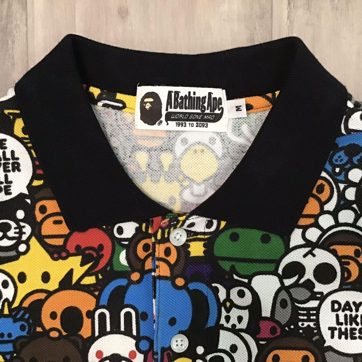 マイロ アニマル サファリ ポロシャツ Mサイズ a bathing ape bape baby milo エイプ ベイプ アベイシングエイプ Safari animal 26mf