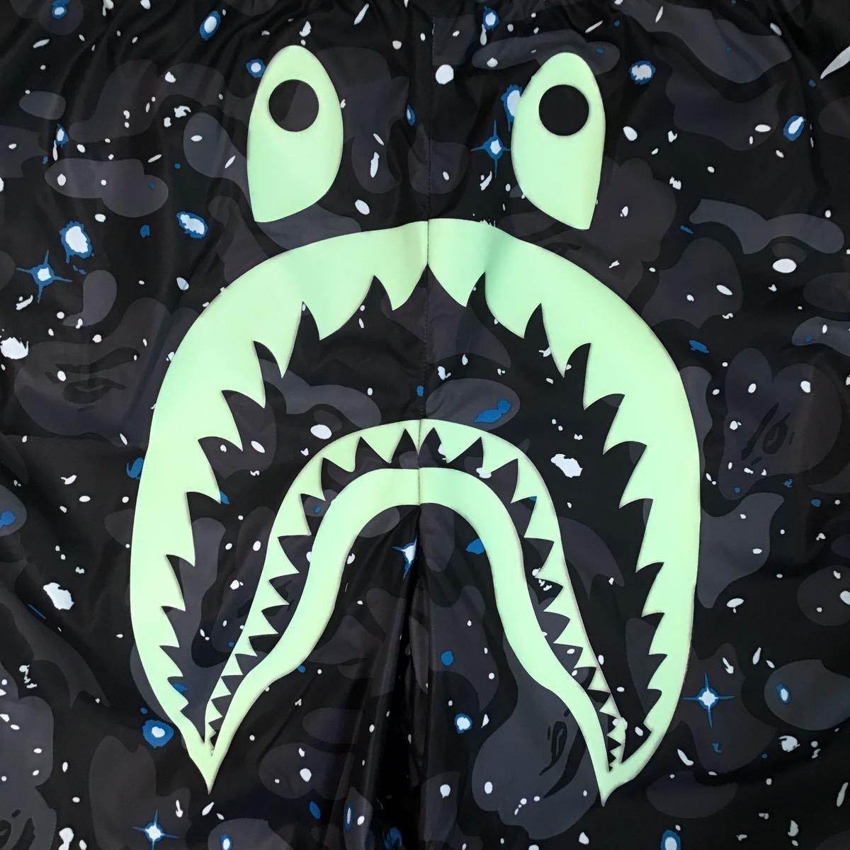 ★蓄光★ space camo シャーク ハーフパンツ XLサイズ a bathing ape BAPE shark swim shorts ショーツ エイプ ベイプ beach pants 85j8