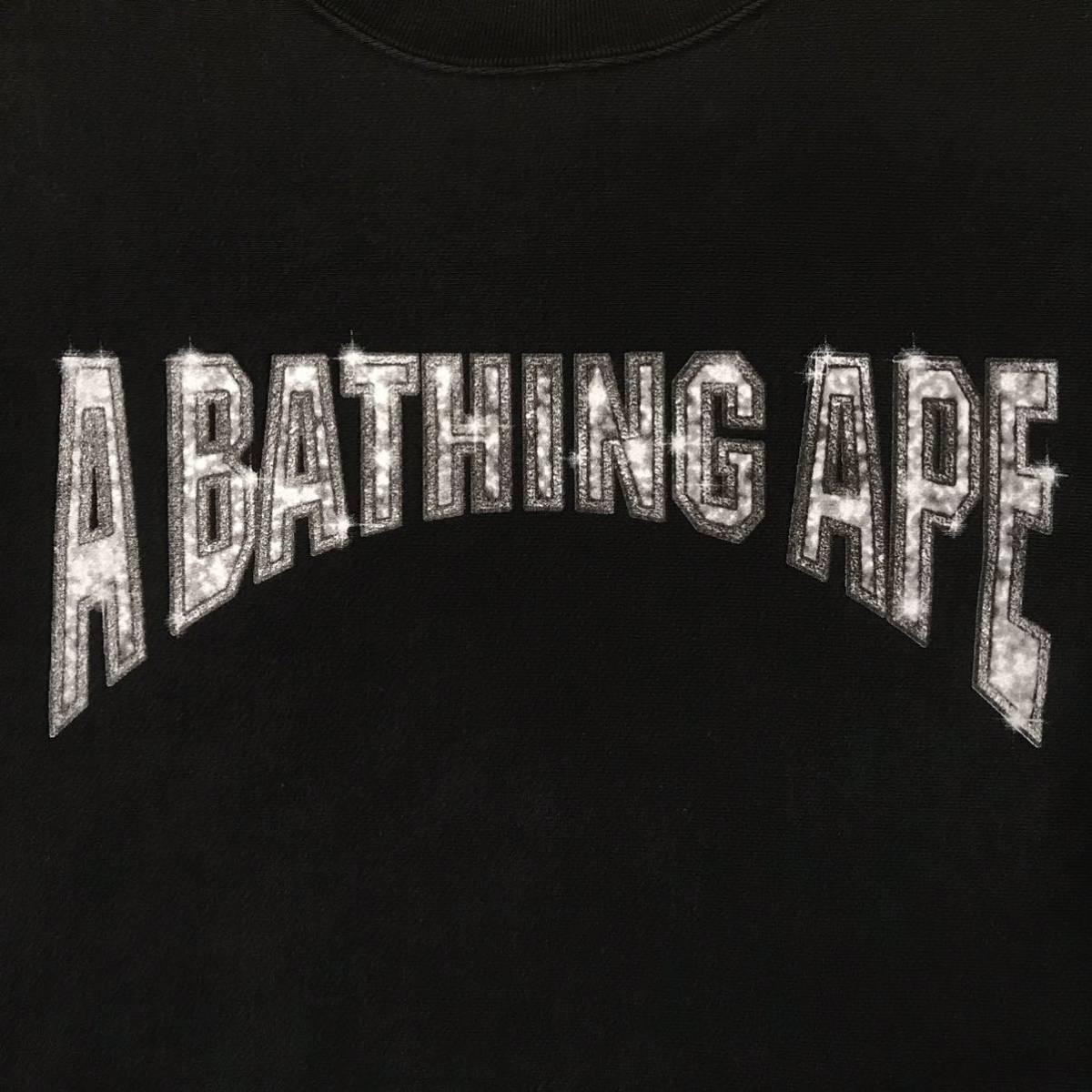★初期★ BAPE logo 長袖 スウェット black Mサイズ a bathing ape bape エイプ ベイプ アベイシングエイプ NIGO vintage 0989