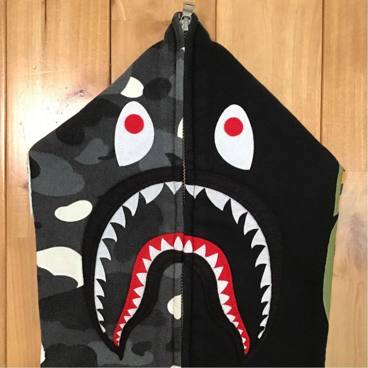 ★蓄光★ city camo シャーク パーカー Sサイズ shark full zip hoodie a bathing ape bape エイプ ベイプ アベイシングエイプ 迷彩 aj21