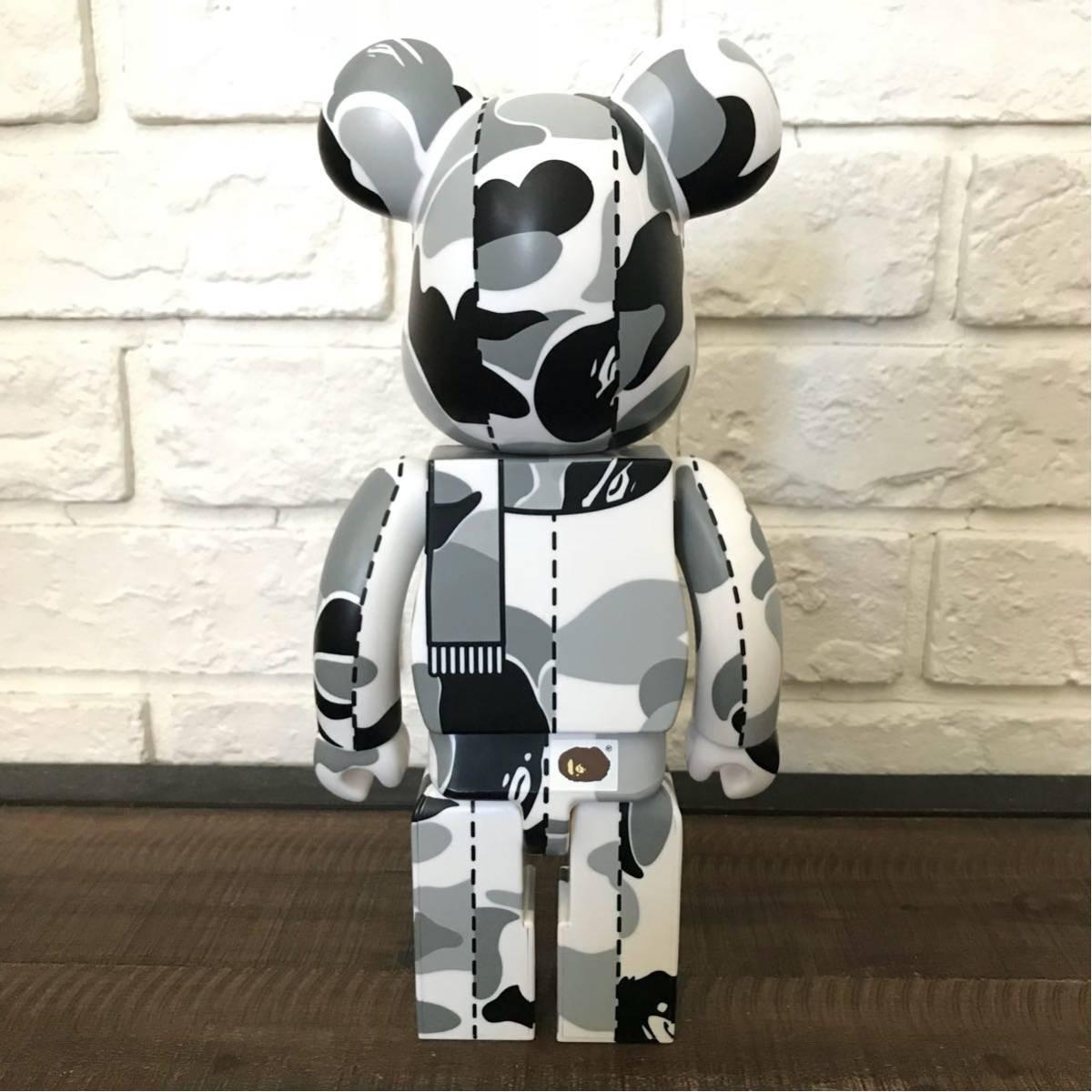 ABC camo 400% BE@RBRICK white medicom toy a bathing ape bape ベアブリック メディコムトイ エイプ ベイプ アベイシングエイプ ABCカモ