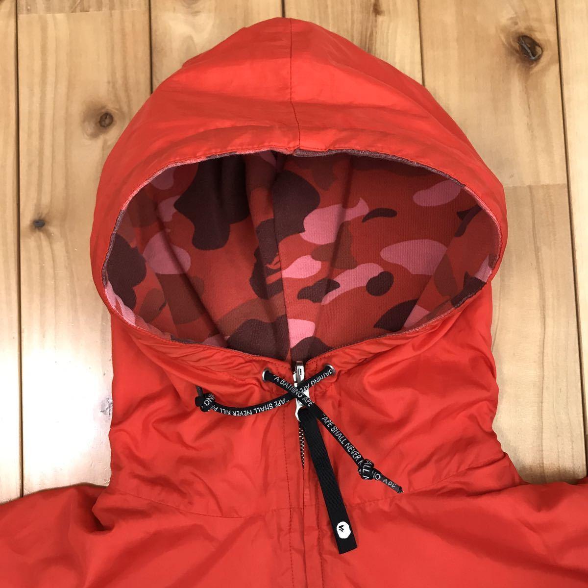 ★リバーシブル★ pharrell camo パーカー ジャケット Mサイズ a bathing ape BAPE reversible hoodie jacket エイプ ベイプ ブルゾン red