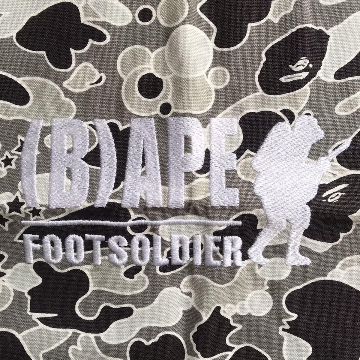 ★新品★ sta camo 巾着袋 a bathing ape bape foot soldier バッグ bag エイプ ベイプ フットソルジャー psyche camo 迷彩 nigo 1212