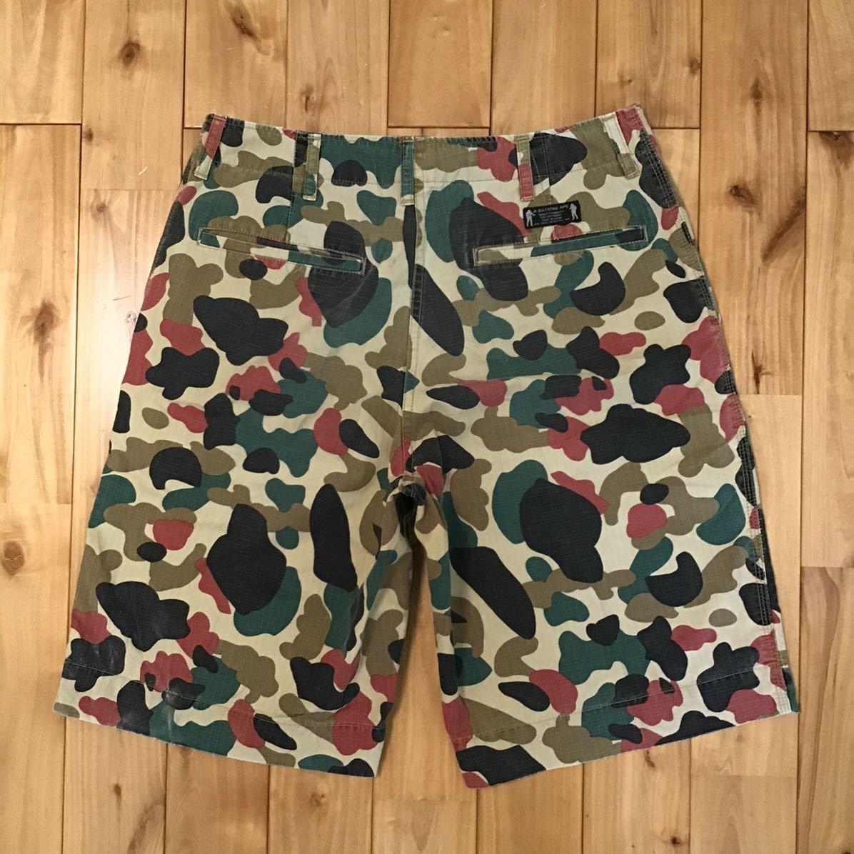 apeman camo ハーフパンツ Mサイズ a bathing ape BAPE shorts ショーツ エイプ ベイプ アベイシングエイプ 迷彩 vintage nigo 325g