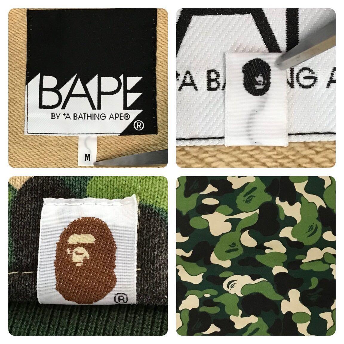ABC camo スウェット スタジャン Mサイズ a bathing ape BAPE ABCカモ varsity jacket エイプ ベイプ アベイシングエイプ ジャケット kr2