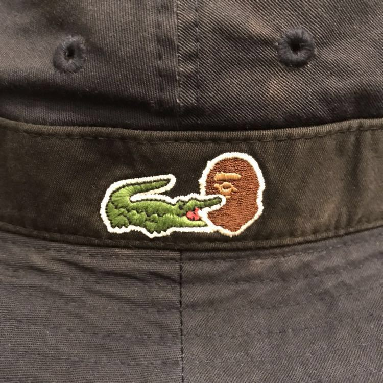★激レア★ LACOSTE × BAPE ハット 60サイズ a bathing ape ラコステ エイプ ベイプ アベイシングエイプ コラボ 限定 HAT 帽子