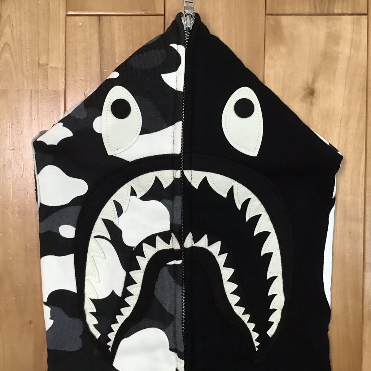 ★蓄光★ zozo限定 city camo シャーク パーカー Mサイズ shark full zip hoodie a bathing ape BAPE エイプ ベイプ アベイシングエイプ nv