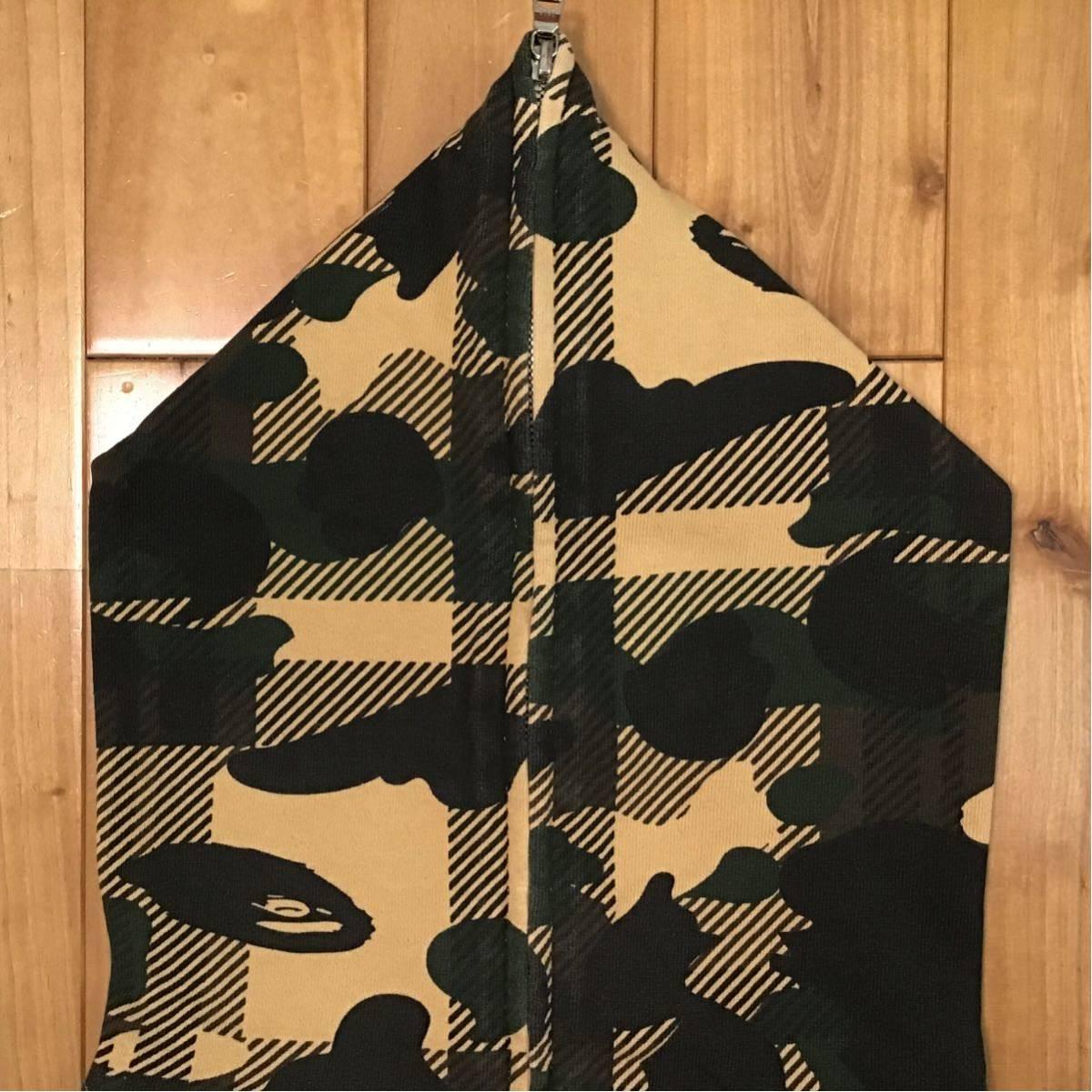 check camo フルジップ パーカー Mサイズ BAPE logo full zip hoodie a bathing ape エイプ ベイプ アベイシングエイプ 迷彩 g89