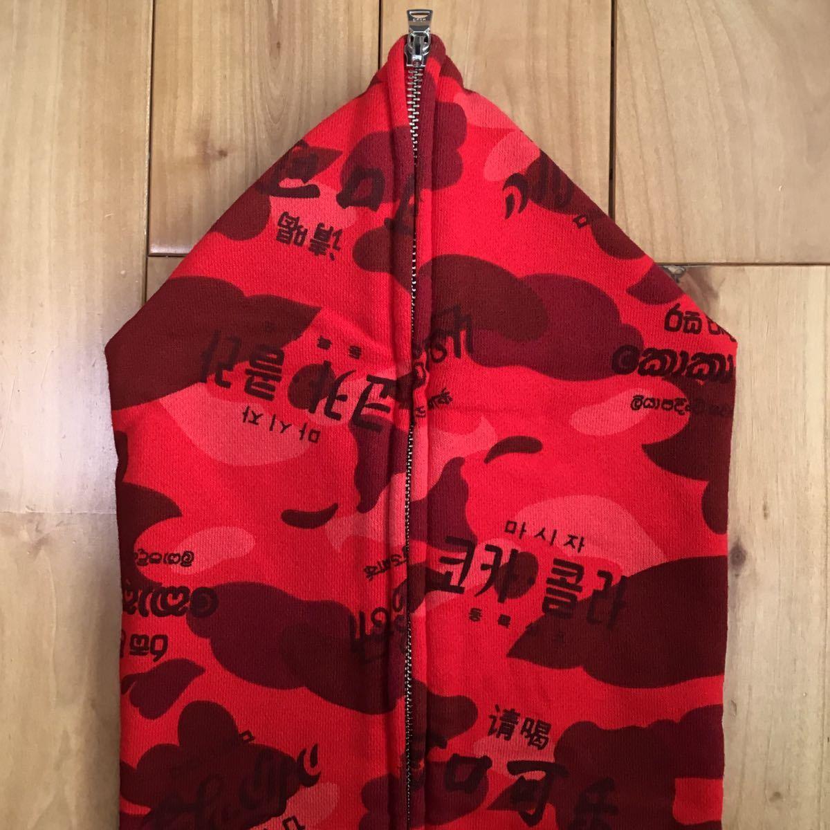 ★美品★ coca cola red camo フルジップ パーカー レディース Sサイズ BAPE full zip hoodie a bathing ape エイプ ベイプ コカコーラ