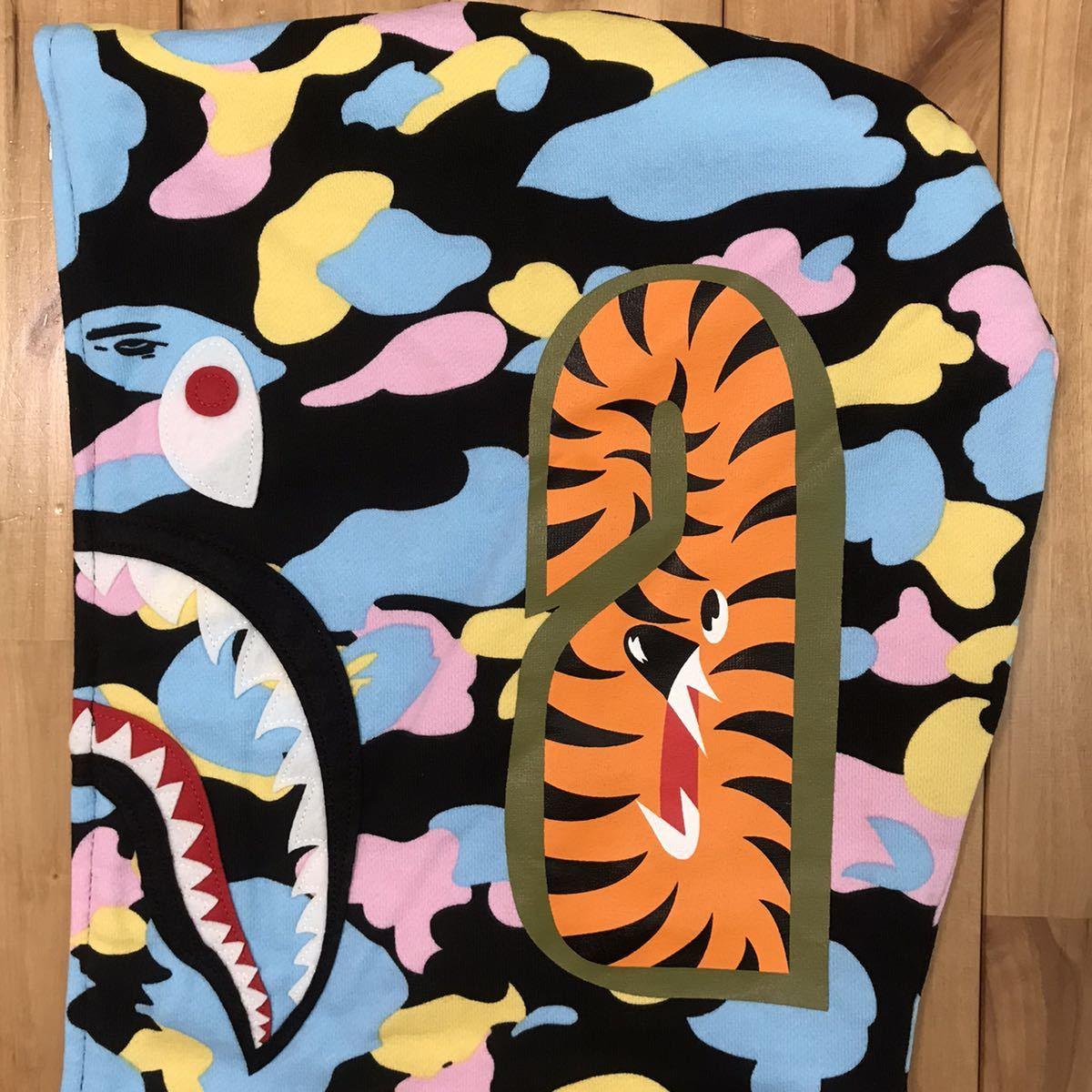 ★新品★ New multi camo シャーク パーカー XLサイズ cotton candy camo shark full zip hoodie エイプ ベイプ アベイシングエイプ 迷彩