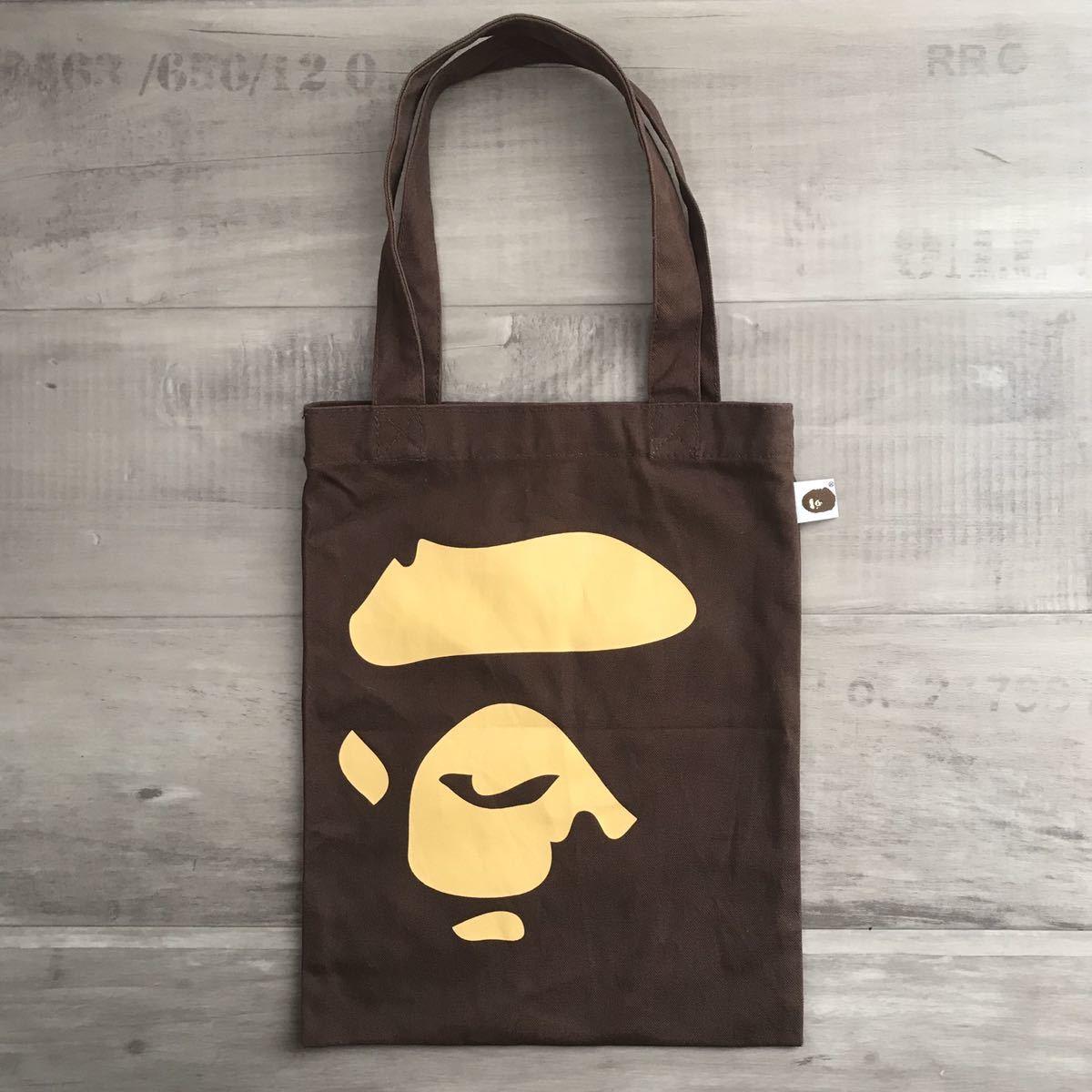 ape フェイス トートバッグ ブラウン エイプ ベイプ アベイシングエイプ tote bag a bathing ape BAPE nigo