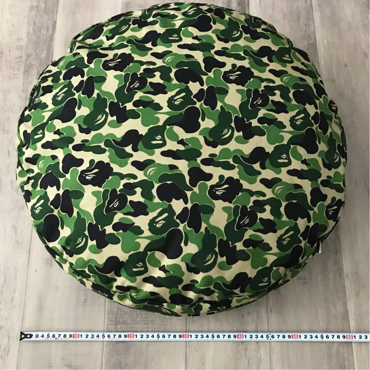 ★新品★ ABC camo green big cushion a bathing ape BAPE ビッグ クッション dog bed ABCカモ エイプ ベイプ アベイシングエイプ 迷彩
