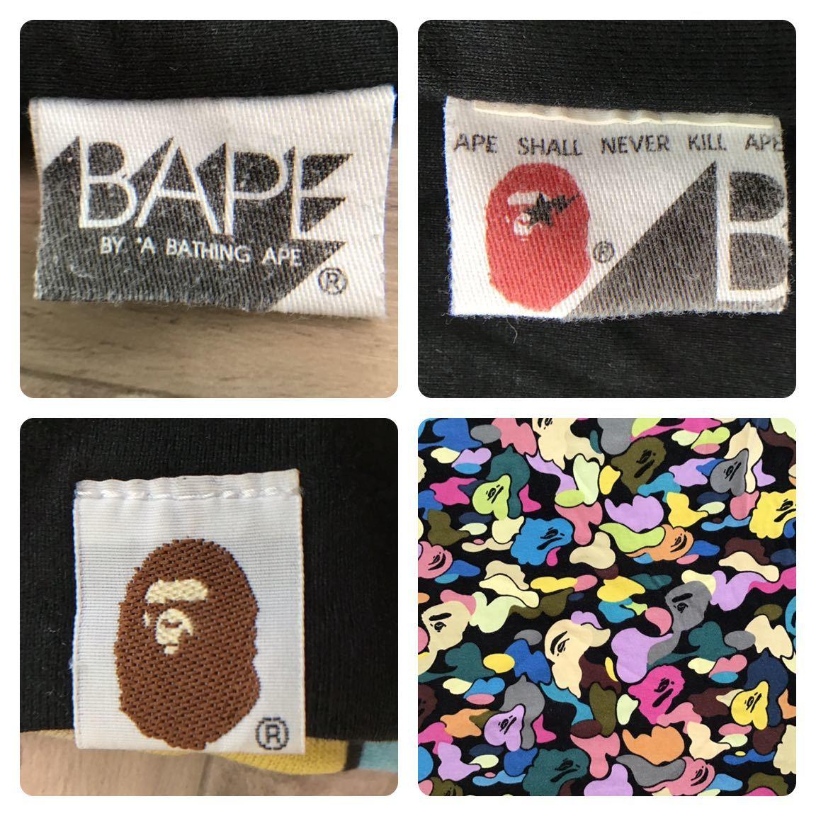 ★リバーシブル★ マルチカモ 長袖 Tシャツ a bathing ape bape multi camo エイプ ベイプ アベイシングエイプ college logo reversible 27