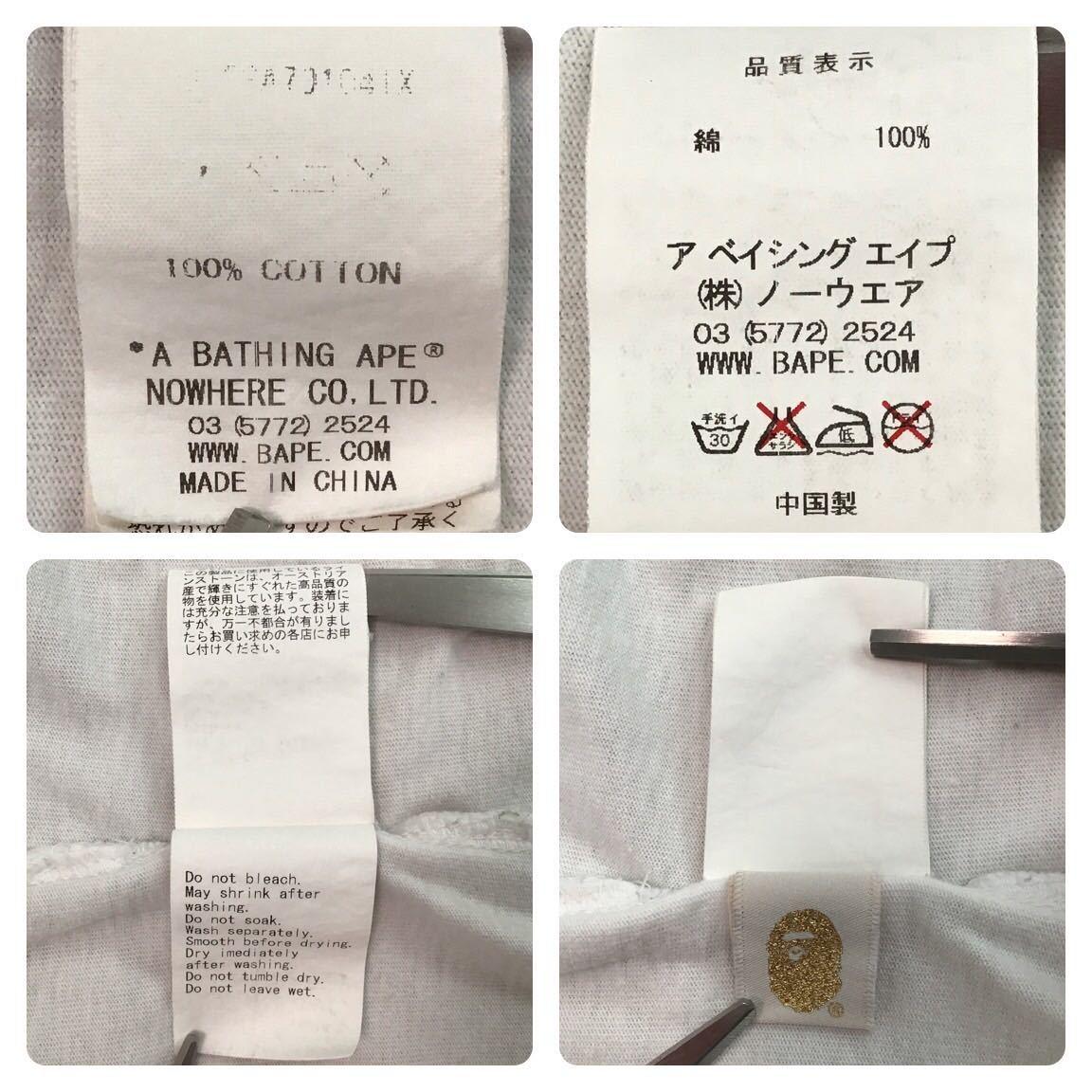 ★XL★ スワロフスキー Red camo bape logo Tシャツ a bathing ape swarovski ラインストーン エイプ ベイプ bape レッドカモ 迷彩 t2