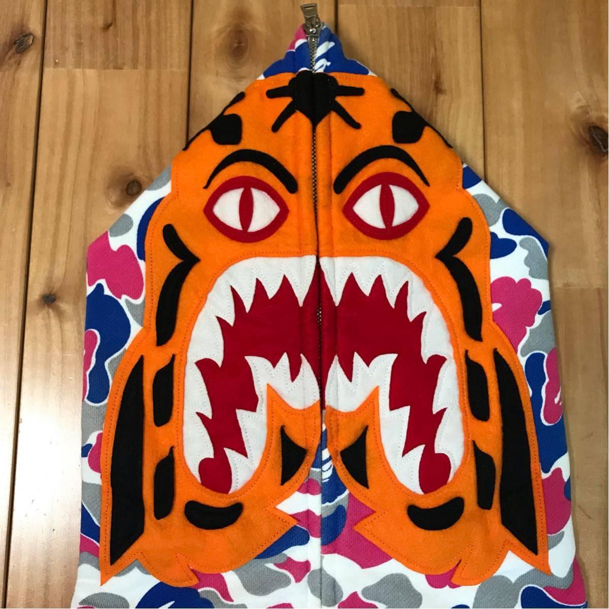 ★新潟限定★ niigata city camo タイガー パーカー L a bathing ape bape tiger full zip hoodie シャーク shark エイプ ベイプ 都市限定