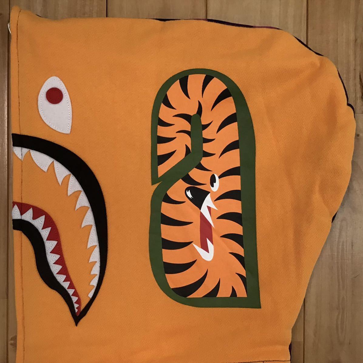 タイガー シャーク パーカー Sサイズ tiger shark full zip hoodie a bathing ape BAPE purple camo エイプ ベイプ アベイシングエイプ tp8