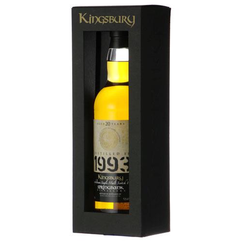キングスバリー スプリングバンク1993(20年) カスクストレングス:700ml [77908]* 終売(98-0)
