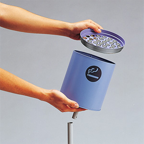 屋外用スタンド灰皿 K型 [ZZ015-406-95]* 取寄(92-0)