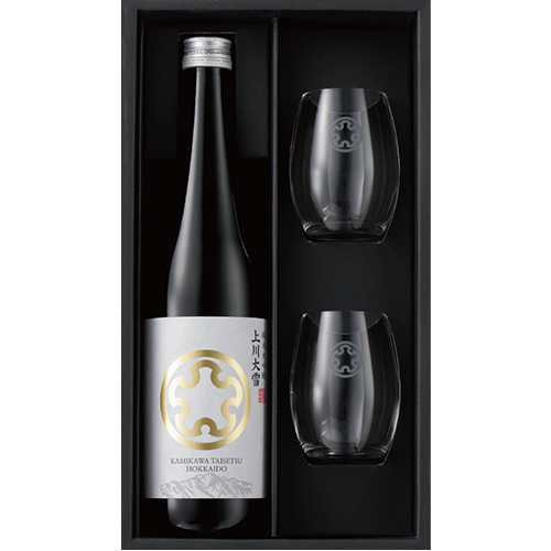 「上川大雪」純米大吟醸720ml1本とオリジナルグラス2個セット