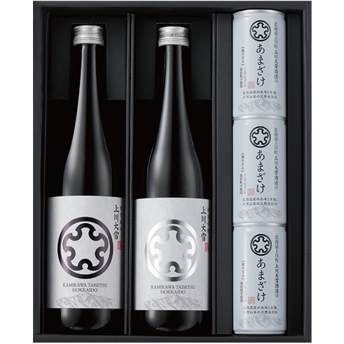 """「上川大雪」特別純米・純米吟醸720mlと「あまざけ」3缶セット<br><span style=""""color:#FF0000;"""">申し訳ございません、現在売切れです。<br>販売再開は2021年1月下旬予定となっております。"""