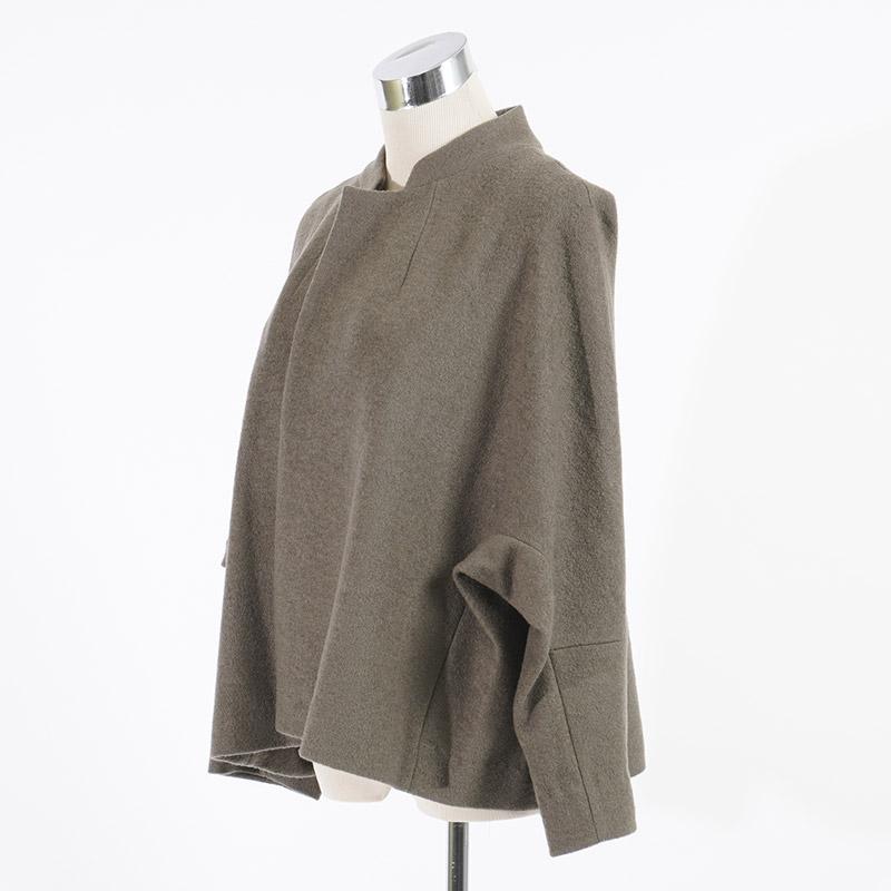 マオカラーコクーンジャケット