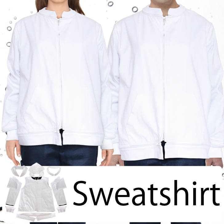 【SET】10スタイルアレンジトップス コットンカットソー WHITE / ユニセックス・撥水・防汚・多収納・軽量・QRコード