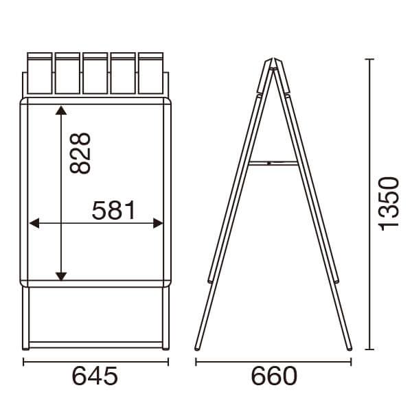 グリップA パンフレール A1 シルバー(片面/両面)│パンフレットケース付き。
