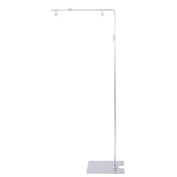 スライド式フロアースタンド W500〜830│高さと横幅を自由に調整可能