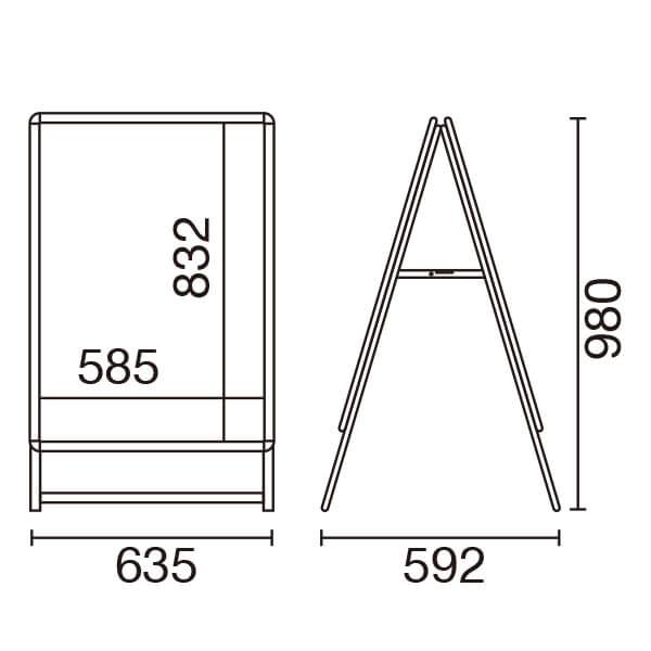スリムグリップA A1 ロータイプ 両面 シルバー 屋内│スリムタイプが新登場。
