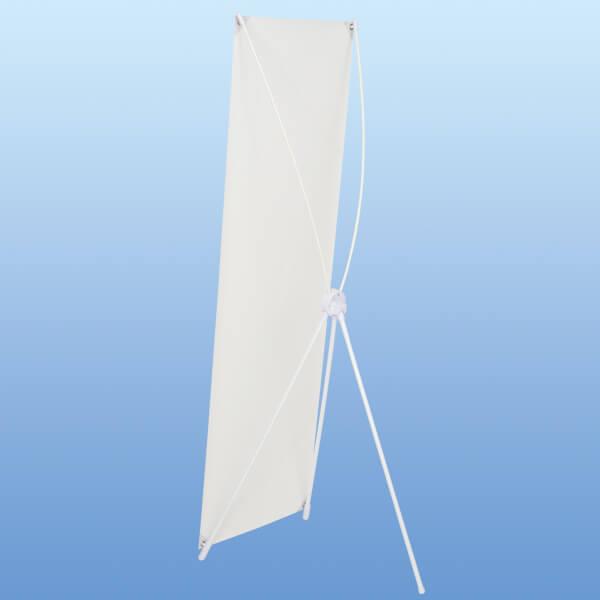 バナースタンド ホワイト│シンプルな白色が特徴のコンパクトなバナースタンド