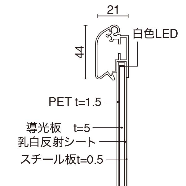 MGライトパネル カスタム+印刷プリントセット│防滴仕様だから屋外OK【送料無料】