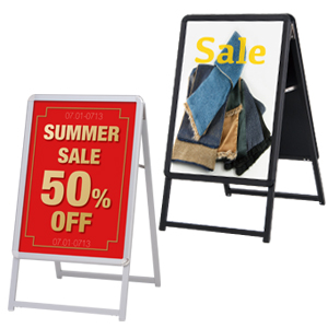 グリップA (B2) 片面 (シルバー/ブラック)│定番のポスターグリップを低価格で。