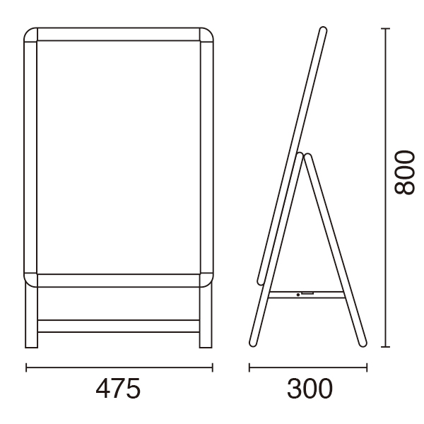 グリップA (A2) 片面 (シルバー/ブラック)│コンパクトなA2サイズが新登場。