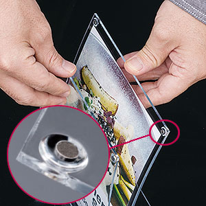 アールマグPOP(A4/B5/A5/A6/A7)│磁石で用紙の交換が簡単