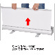 ダブルロールスクリーンバナー 850 シルバー+印刷セット(2枚)【送料無料】