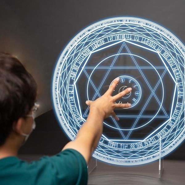 魔法陣アクリルパーティション (W590)│直接印刷で高透明度仕様【SNS投稿で送料無料】