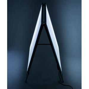 LED グリップA(シルバー/ブラック×B0ヨコ×片面)│A型電飾看板はこれで決まり!