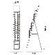 カタログスタンド TCS-7(ワイヤー12タイプ)A4 12段│パンフレットやカタログの設置に