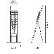 カタログスタンド TCS-8(ワイヤー6タイプ)A4 6段│パンフレットやカタログの設置に